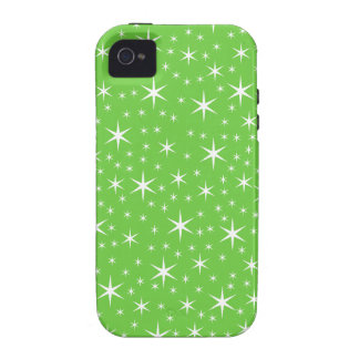 Green and White Star Pattern. Case For The iPhone 4