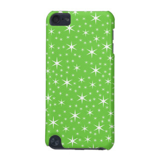 Green and White Star Pattern. iPod Touch (5th Generation) Case