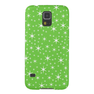 Green and White Star Pattern. Case For Galaxy S5