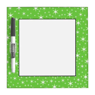 Green and White Star Pattern. Dry-Erase Boards