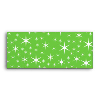 Green and White Star Pattern. Envelope