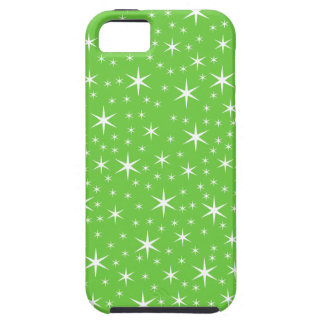 Green and White Star Pattern. iPhone 5 Cases