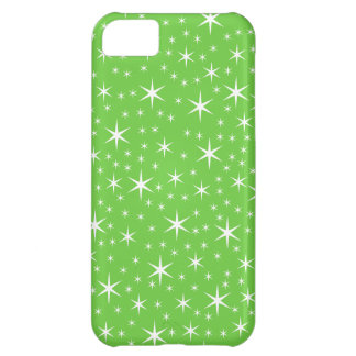 Green and White Star Pattern. iPhone 5C Case