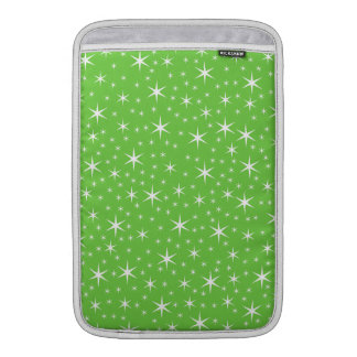 Green and White Star Pattern. MacBook Sleeve