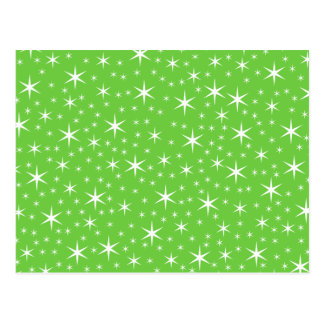 Green and White Star Pattern. Postcard