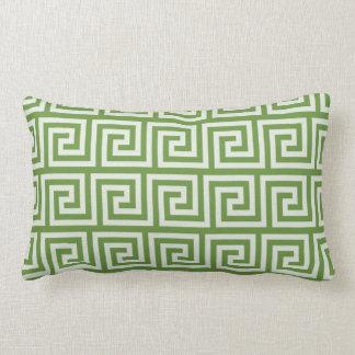Green and White stripe throw pillow