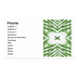 green and white striped pattern, floral angles business card