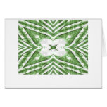 green and white striped pattern, floral angles card
