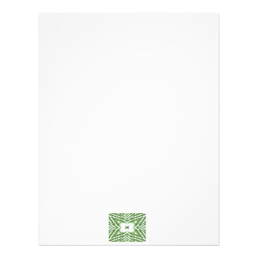 green and white striped pattern, floral angles custom letterhead