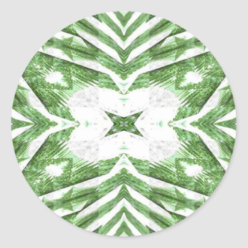 green and white striped pattern, floral angles sticker