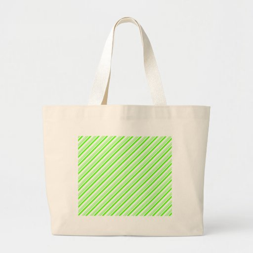 Green and White Stripes Bags