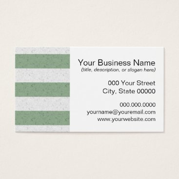 Beach Themed Green and White Stripes Business Card