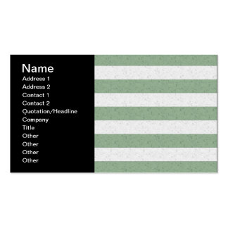 Green and White Stripes Business Card