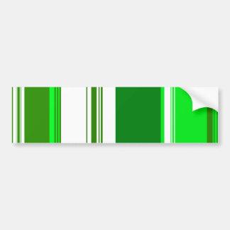 Green and white stripes car bumper sticker