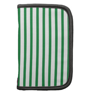 Green and White Stripes Folio Planner