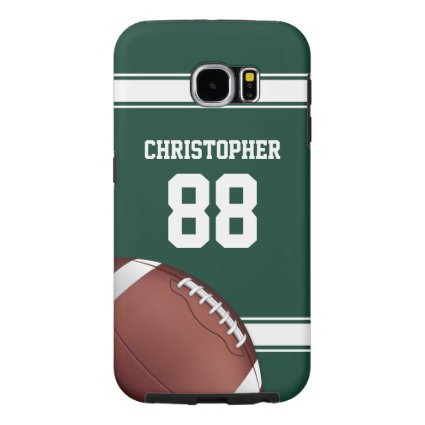 Green and White Stripes Jersey Grid Iron Football Samsung Galaxy S6 Cases