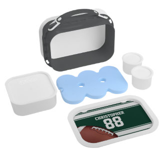 Green and White Stripes Jersey Grid Iron Football Replacement Plate