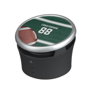 Green and White Stripes Jersey Grid Iron Football Speaker