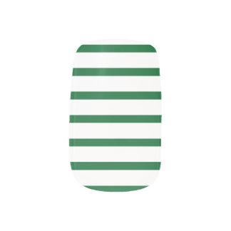 Green and White Stripes Nail Art Minx® Nail Wraps