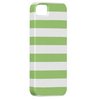 Green and White Stripes Pattern iPhone 5 Cases