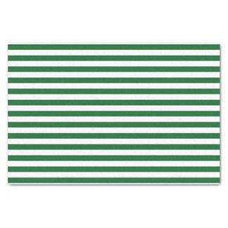 """Green and White Stripes Tissue Paper 10"""" X 15"""" Tissue Paper"""