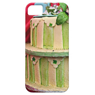 Green and white stripped wedding cake iPhone 5 cover