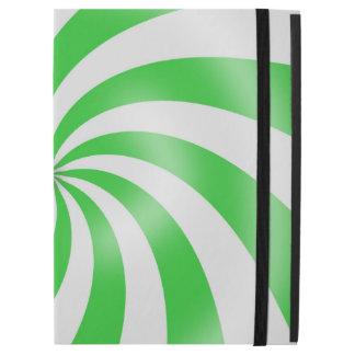 Green and White Swirl Pattern Design iPad Case