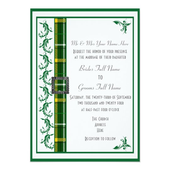 White Wedding Kilt: Green And White Tartan Plaid Traditional Wedding