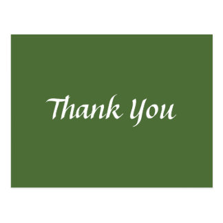 Green and White Thank You Trendy Classical Postcard