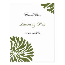 green and white ThankYou Cards