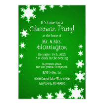 Green and White Theme Christmas Party Invitation
