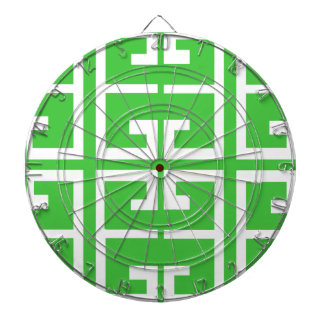 Green and White Tile Dartboard With Darts