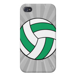 green and white volleyball iPhone 4 covers