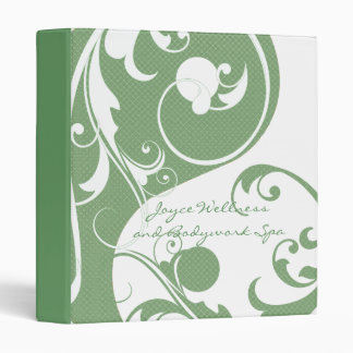 Green and White Yin and Yang Binder