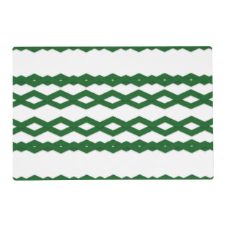 Green and White Zigzag Design Placemat