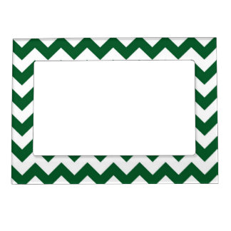 Green and White Zigzag Magnetic Frame