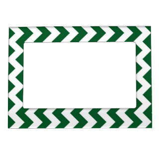 Green and White Zigzag Magnetic Photo Frame