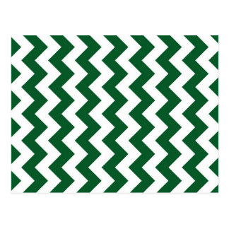 Green and White Zigzag Postcard
