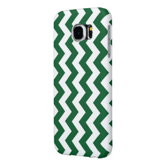 Green and White Zigzag Samsung Galaxy S6 Case