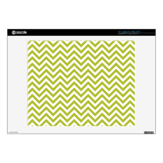 "Green and White Zigzag Stripes Chevron Pattern 14"" Laptop Decal"