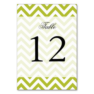 Green and White Zigzag Stripes Chevron Pattern Card
