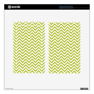 Green and White Zigzag Stripes Chevron Pattern Kindle Fire Skins
