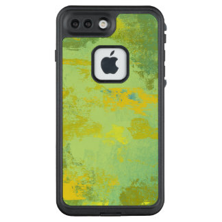 Green and Yellow Abstract Art Design LifeProof FRĒ iPhone 7 Plus Case