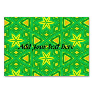 Green and yellow abstract pattern card