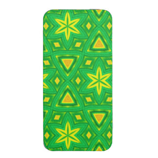 Green and yellow abstract pattern iPhone 5 pouch