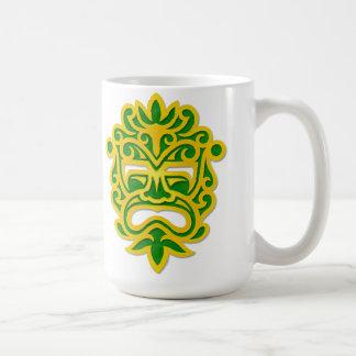 Green and Yellow Aztec Mask Coffee Mug