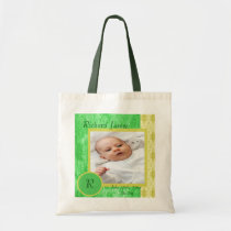 Green and Yellow Baby Boy Photo Tote Bag