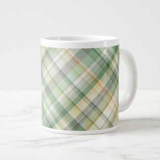 Green and yellow blends giant coffee mug