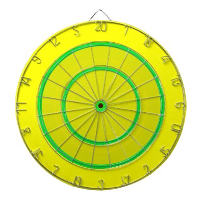 Green and Yellow Bright Custom Dart Board