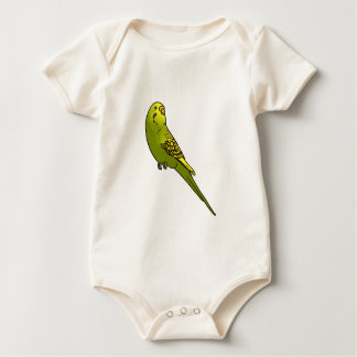 Green and yellow budgie baby bodysuit